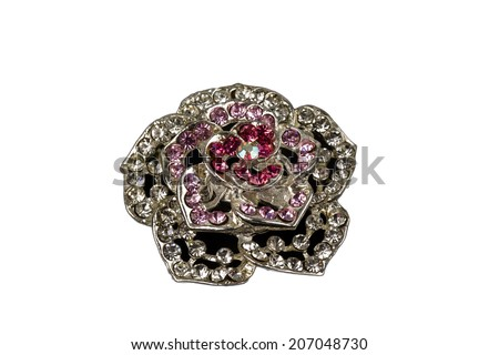 Brooch with stones - stock photo