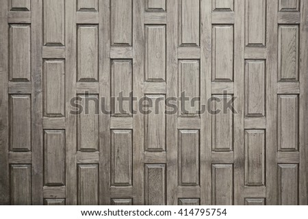 Brown color nature detail old wall teak wood decorative furniture surface house home wall house  designed handcraft from thailan textures                          - stock photo