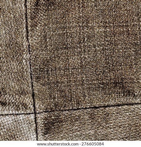 brown jeans texture,seam - stock photo