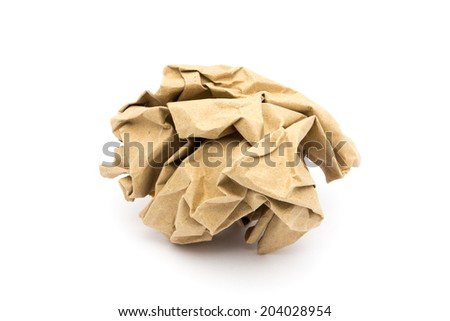 ?Brown paper ball - stock photo