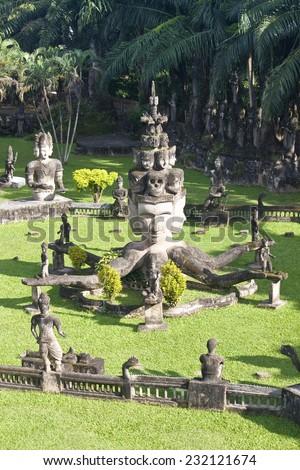 Buddha Park, Vientiane, Laos - stock photo