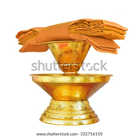 Buddhist monk's robe, sarong  yellow robe of Buddhist monk