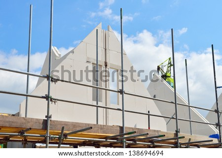 building houses - stock photo