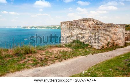 Bulgarian Black Sea Coast. Ancient fortress on Kaliakra headland - stock photo