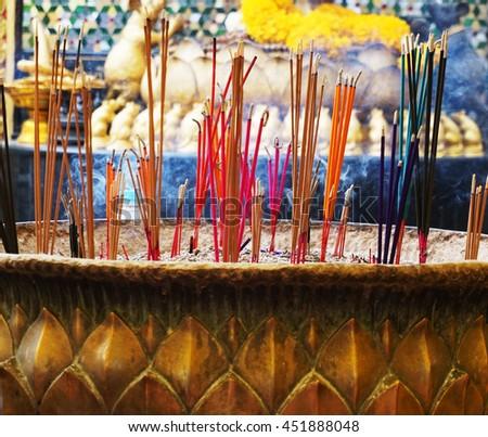 burning incense - stock photo