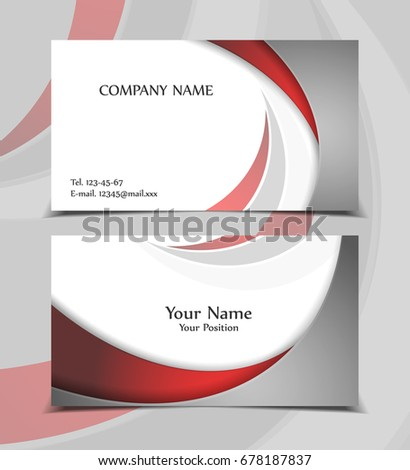 business card templates. Modern design for corporate ID.  illustration