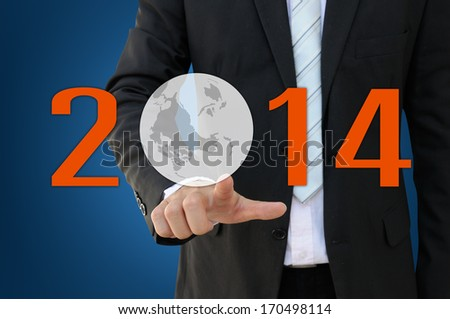 2014 Business Concept - stock photo