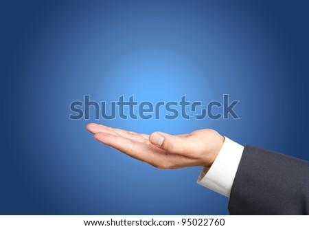 Business hand - stock photo