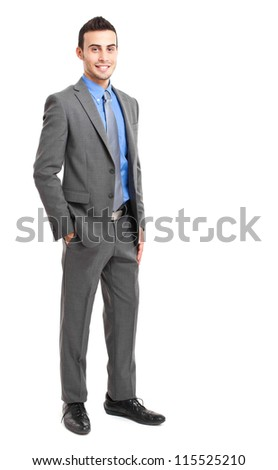 Businessman full length portrait