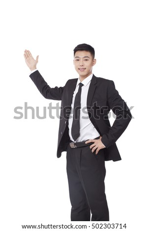 businessman holding hand