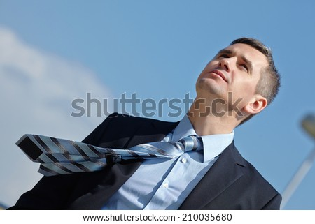 businessman outdoor - stock photo
