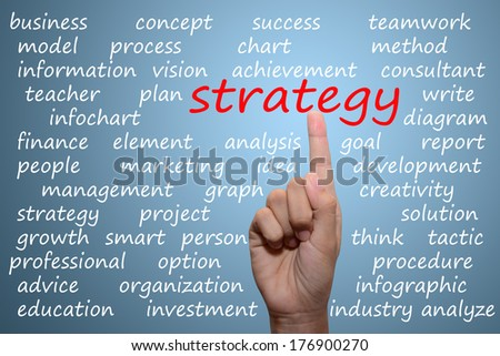 businessman pointing strategy concept  - stock photo