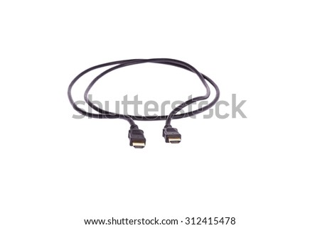 cable digital black headed golden white backdrop photo obviously blur - stock photo