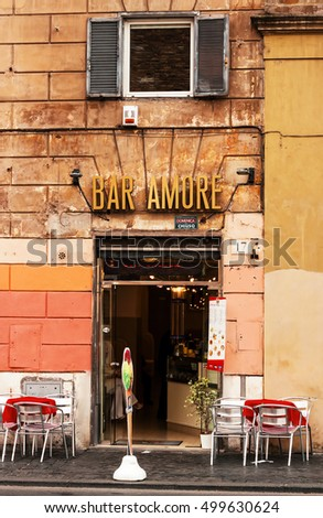 30.04.2016 - Cafe/bar in Rome, Italy