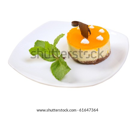cake.sweet dessert.clipping Path .isolated on a white background.
