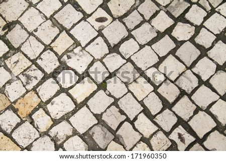 """cal�§ada portuguesa"" ground texture - stock photo"