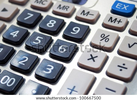 Calculator closeup
