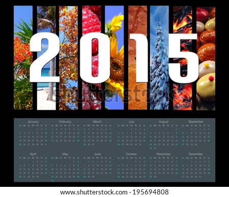 2015 calendar - stock photo