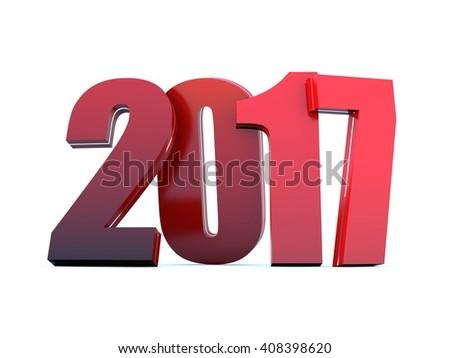 2017 calendar background - Happy New Year - stock photo
