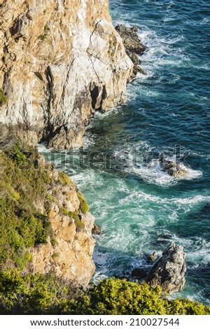 California coast, Big Sur,view from highway no. 1 - stock photo