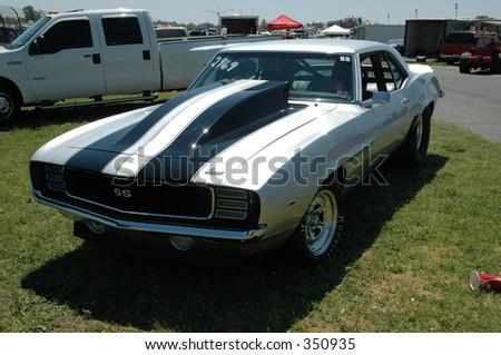 1969 camaro - stock photo