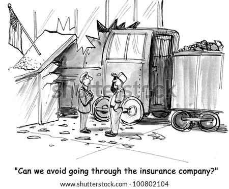 'can we avoid going through insurance company?' - stock photo
