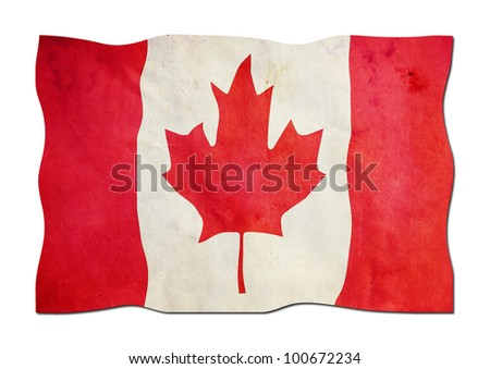 Canadian Flag made of   Paper - stock photo