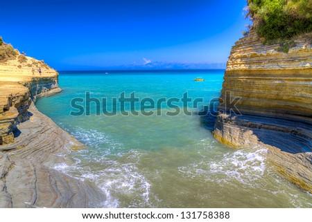 Canal D'amour beach,Corfu island, Greece - stock photo