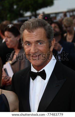 CANNES, FRANCE - MAY 17:  Mel Gibson   attend 'The Beaver' Premiere during the 64th Cannes Film Festival at Palais des Festivals on May 17, 2011 in Cannes, France. - stock photo