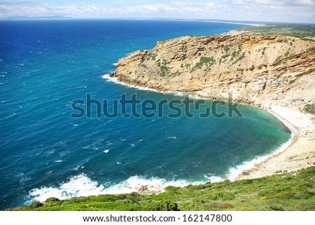 Cape Espichel, Atlantic coast of Portugal  - stock photo