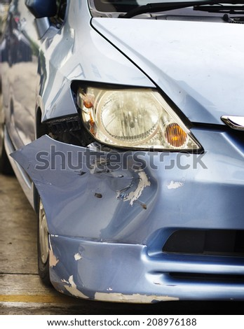 Car crash - stock photo