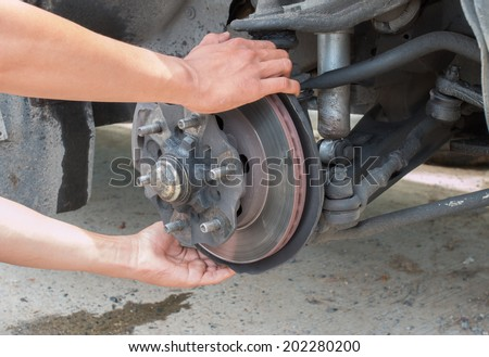 car disc brakes servicing