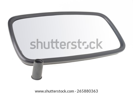 car mirror isolated on white