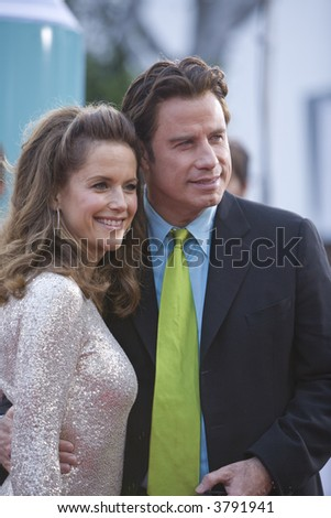 7-10-07 Celebrity couple John Travolta and Kelly Preston at the Hairspray Premiere in Westwood