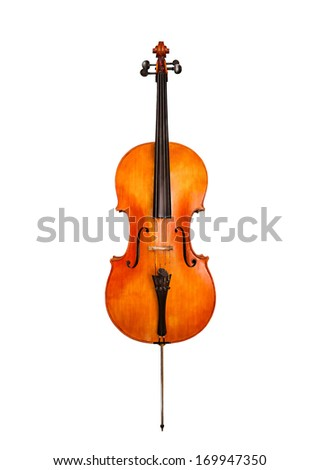 Cello isolated on white - stock photo