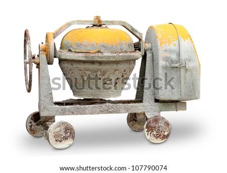Cement mixer machine - stock photo