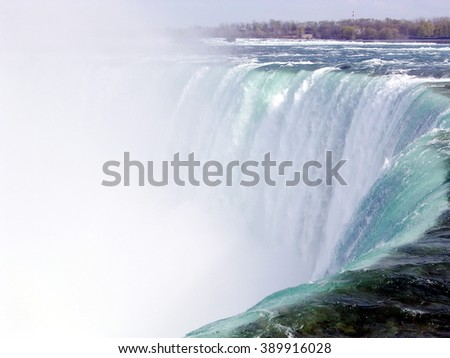 Central part of Canadian Niagara Falls in spring, Canada