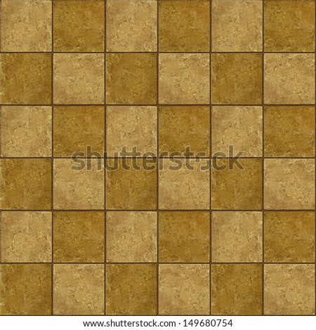 36 ceramic two-tone greenish brown stone tiles seamlessly tileable - stock photo