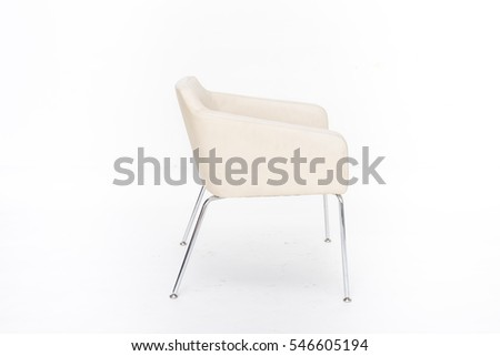 chair, modern designer chair isolated on white background.