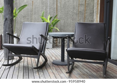 2 chair relax - stock photo