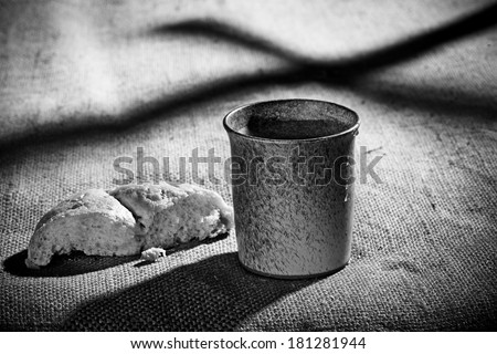 chalice and bread  - stock photo