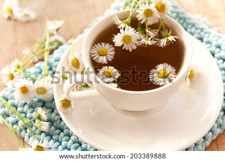 chamomile tea - stock photo