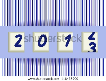 2012-2013 change - stock photo