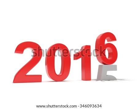 2015-2016 change new year 2016 isolated - stock photo
