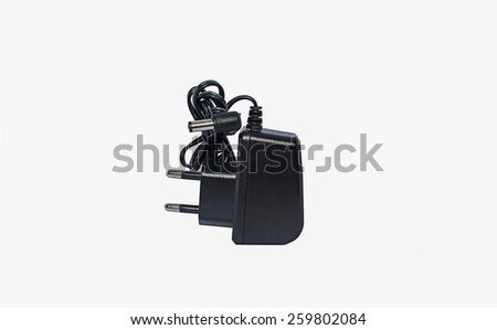charger isolated on a white background - stock photo