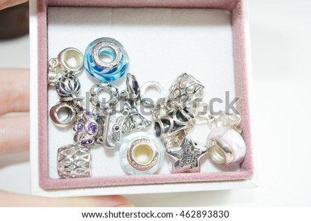 Charms for bracelet in a box