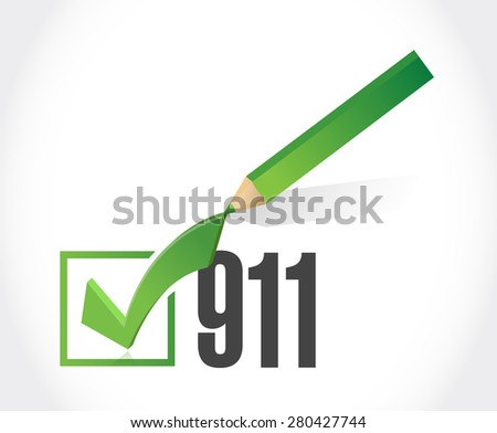 911 check list sign concept illustration design over white