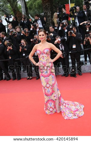 Cheryl Cole attends the 'Slack Bay (Ma Loute)' premiere during the 69th annual Cannes Film Festival at the Palais des Festivals on May 13, 2016 in Cannes, France.  - stock photo