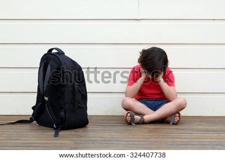 Child being bullied. - stock photo
