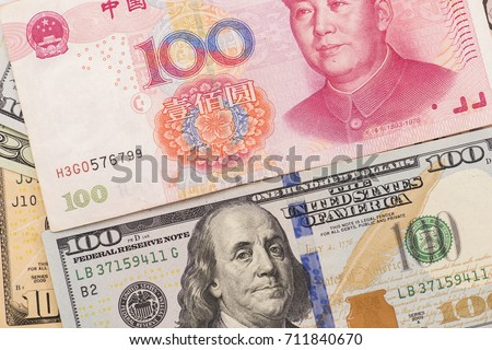 100 chinese and USA bank notes